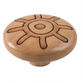 Wooden Engraved Knob 422HN